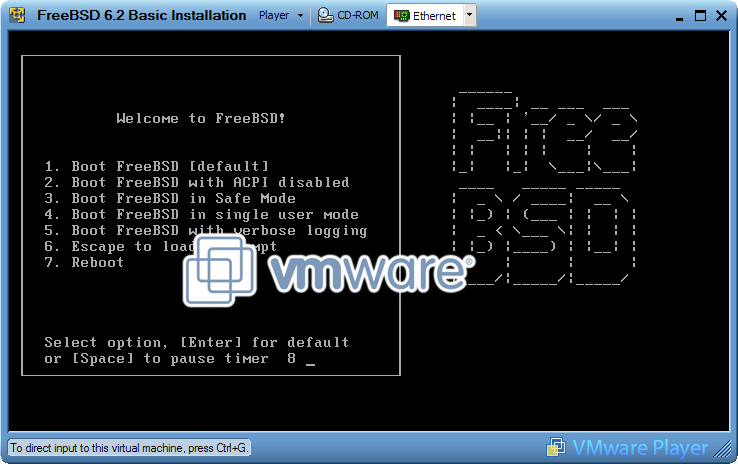 Booting Your First VMware Virtual Machine | SourceHosting blog