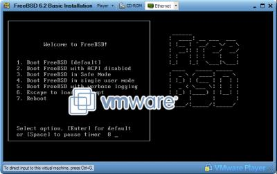 FreeBSD Boot Menu