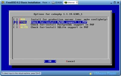 FreeBSD Port MySQL Option