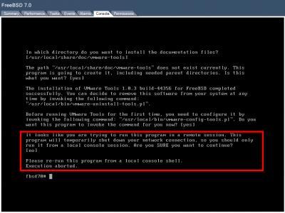 VMware Tools Installation Fails Again